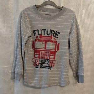 Wonderkids Firetruck Long Sleeve Shirt size 4t